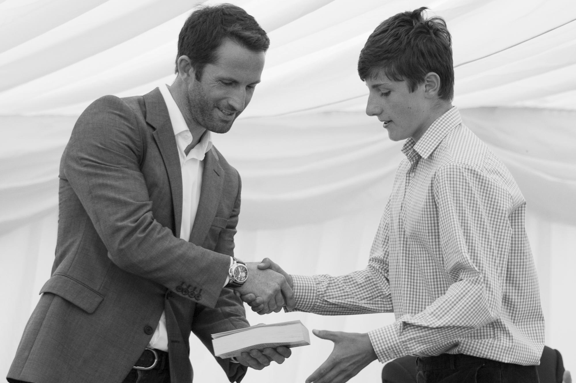 Walhampton School celebrate with olympic sailor Sir Ben Ainslie CBE